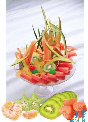 ktv包房华丽的水果拼盘制作方法